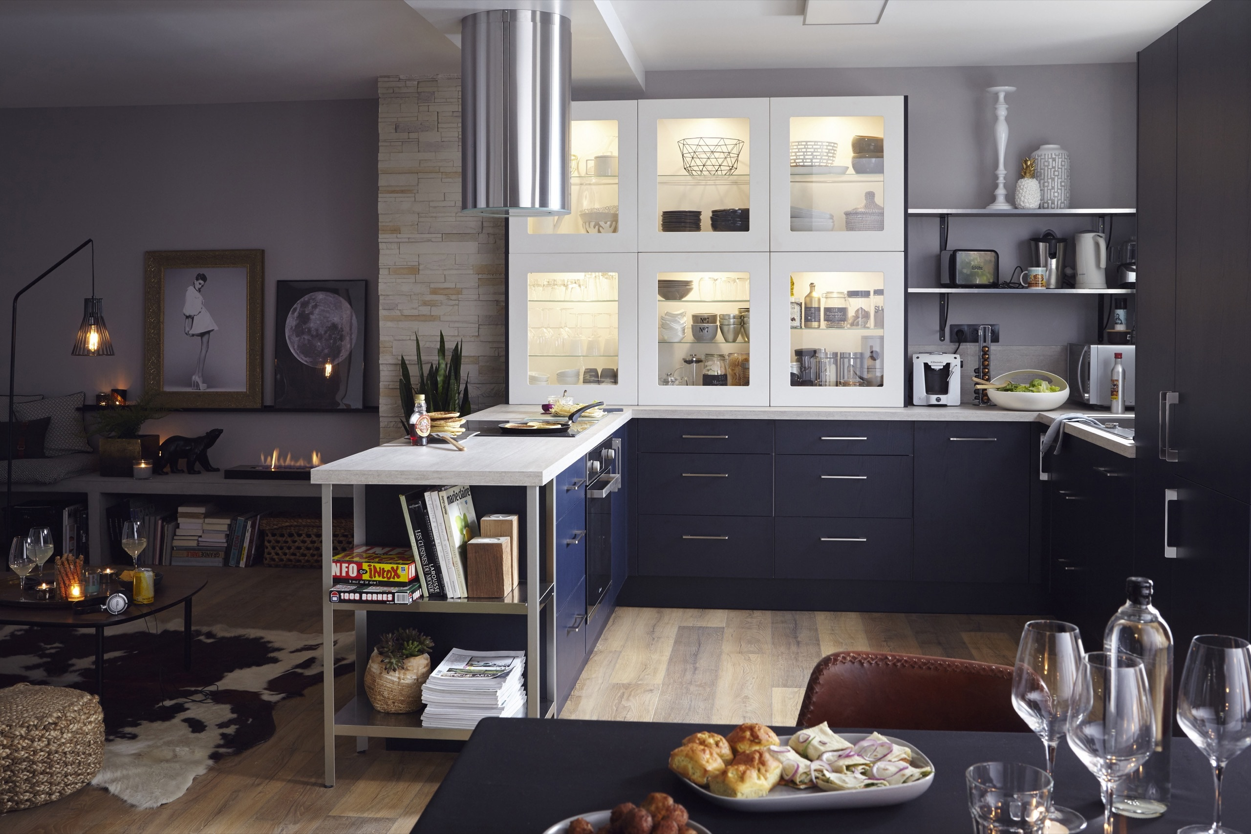 Cuisine Integree Dans Salon décoration d'intérieur - odile charpiat